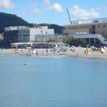 今日(2015.8.5)の森戸海岸海水浴場
