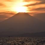 ダイヤモンド富士 in 江ノ島
