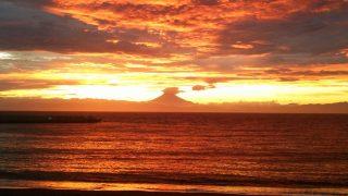 今日(2017.9.12)の三戸浜海岸の夕景。