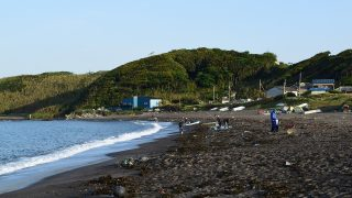 GW最終日(2018.5.6)朝の和田長浜海岸・矢作海岸。