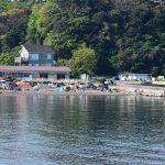 GWの朝(2017.4.30)の三戸浜海岸と和田長浜海岸。