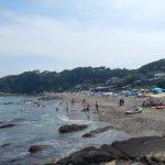 海の日(2018.7.16)の大浦海岸海水浴場